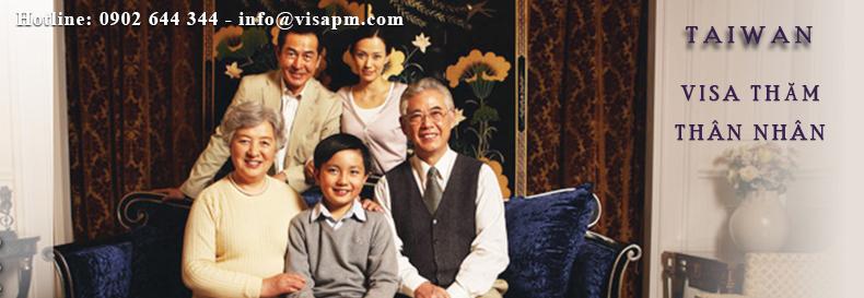 visa đài loan thăm thân nhân, visa dai loan tham than nhan